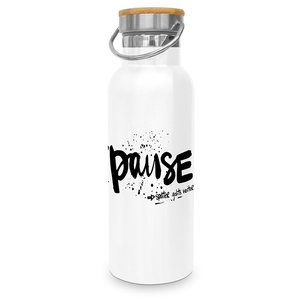 Paperproducts Design Edelstahl-Flasche Pause