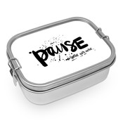 Paperproducts Design Lunch Box Steel Pause