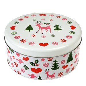 Sass & Belle Cake tin round 50's Christmas
