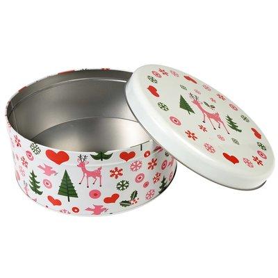 Rex London Cake tin round 50's Christmas