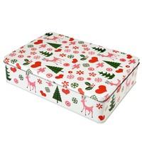 Rex London Cake tin square 50's Christmas