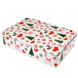 Sass & Belle Cake tin square 50's Christmas