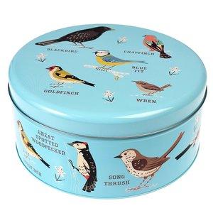 Sass & Belle Cake tin round Garden Birds