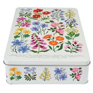 Sass & Belle Cake tin square Wild Flowers