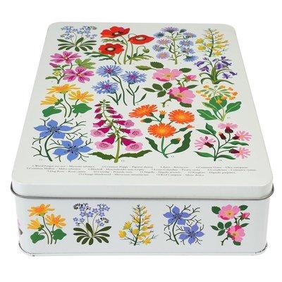Rex London Cake tin square Wild Flowers