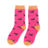 Miss Sparrow Socks Bamboo Little Sausage Dogs hot pink