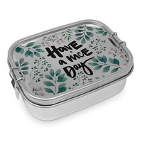 Paperproducts Design Lunch Box Steel Have a nice Day