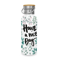 Paperproducts Design Edelstahl-Flasche Have a nice Day