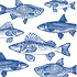 Paperproducts Design Paper Napkins Graphic Fishes