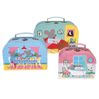 Rex London Cases Set of 3 Mouse in House