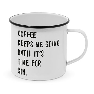 Paperproducts Design Enamel Mug Coffee & Gin