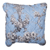 Clayre & Eef Cushion cover Toile light blue/grey