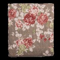 Clayre & Eef Throw Double Roses rust/brown
