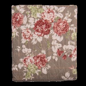 Clayre & Eef Bettüberwurf Double Roses rust/brown