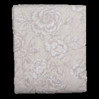 Clayre & Eef Bettüberwurf Single Roses beige/grey