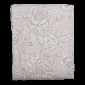 Clayre & Eef Throw Single Roses beige/grey