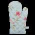 Clayre & Eef Ofenhandschuh Flowers blue