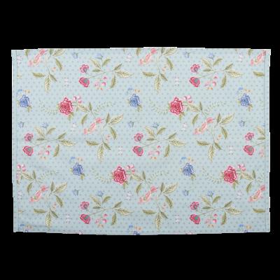 Clayre & Eef Tea towel Flowers blue