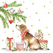 Paperproducts Design Papierservietten Christmas Dog