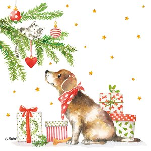 Paperproducts Design Paper Napkins  Christmas Dog