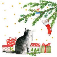 Paperproducts Design Papierservietten Christmas Cat