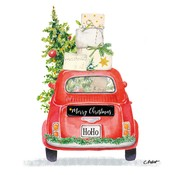 Paperproducts Design Paper Napkins Christmas Taxi