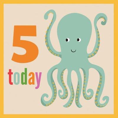 Rex London Postkarte mit Umschlag Octopus 5