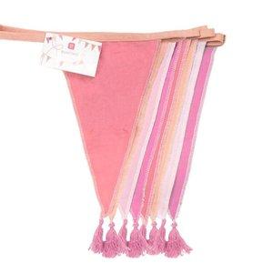Talking Tables Bunting Fabric We love Birthdays pink