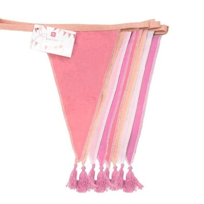 Talking Tables Wimpelkette Stoff We love Birthdays pink