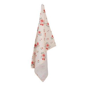 Clayre & Eef Tea towel Flowers creme 1