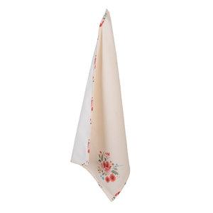 Clayre & Eef Tea towel Flowers creme