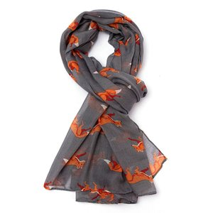 M&K Collection Scarve  Foxes grey