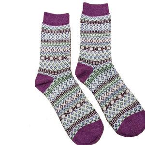 Joya Socks Woolmix Scandi purple/cream