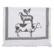 Clayre & Eef Guest towel Farm Animals