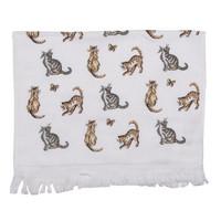 Clayre & Eef Guest towel Cats