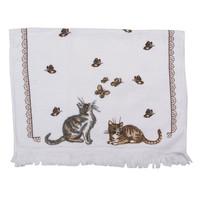 Clayre & Eef Guest towel Cats & Butterflies