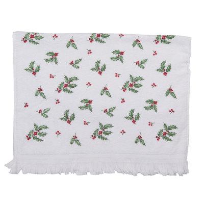 Clayre & Eef Guest towel Mistletoe