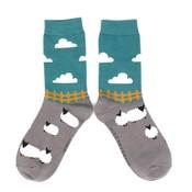 Miss Sparrow Socks Bamboo Sheep Meadows grey