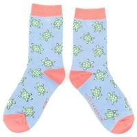 Miss Sparrow Socks Bamboo Cute Turtles powder blue