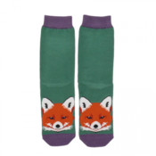 Miss Sparrow Socken Bamboo Fox Face green