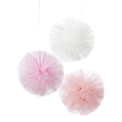 Talking Tables Pom Poms Pink Tulle