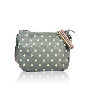 Huiskamergeluk Handbag Carry-All Bag Dots Grey