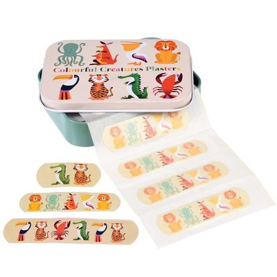 Rex London Plasters in tin Colourful Creatures