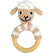 Sindibaba Rattle Sheep on wooden ring