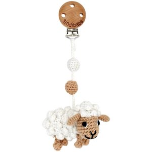 Sindibaba Pram clip sheep / with rattle