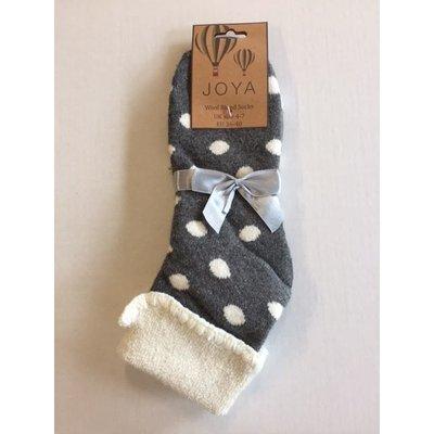 Joya Socks Woolmix extra thick Spotty grey
