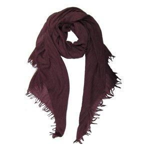 M&K Collection Schal Cotton/Wool plum