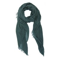 M&K Collection Scarf Cotton / Wool green teal