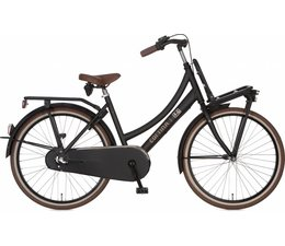 "Cortina Cortina U4 Transport Mini meisjesfiets 26"" 3-speed Jet Black Matt 10+"