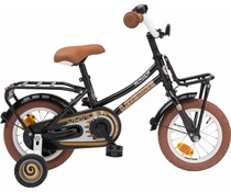 "Loekie kinderfietsen Loekie Pick Up meisjesfiets 12"" Zwart 3+"